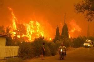 Από τη φωτιά στο Ξηροχώρι Ηλείας